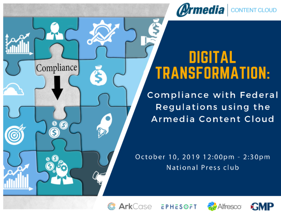 Digital Transformation: Compliance with Federal Regulations using the Armedia Content Cloud
