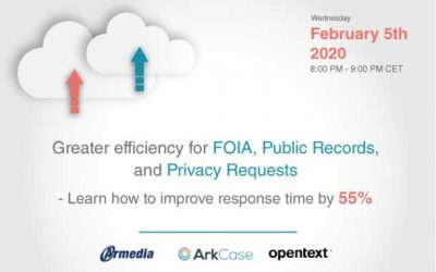 Greater efficiency for FOIA, Public Records, and Privacy Requests – Learn how to improve response time by 55%
