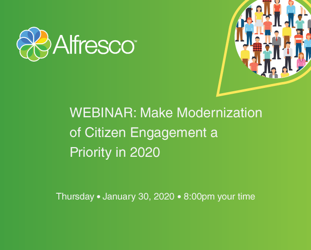 WEBINAR: Make Modernization of Citizen Engagement a Priority in 2020