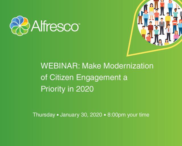 WEBINAR: Make Modernization of Citizen Engagement a Priority in 2020