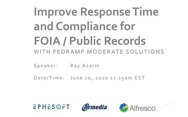 (Webinar) Improve Response Time and Compliance for FOIA / Public Records